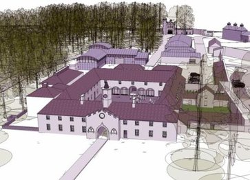 An artist's impression of the new distillery and visitor's centre. copyright Irish Times