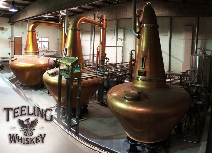 die drei Pot Stills © Teeling Distillery
